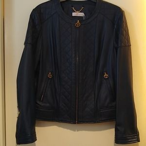 NWT Tory Burch Navy Leather Jacket
